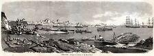 SIRACUSA: Panorama. Sicilia.Trinacria.Regno delle Due Sicilie. PASSEPARTOUT.1860