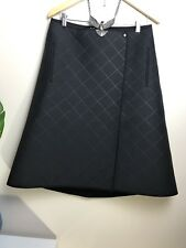 COS Skirt Black a Line Padded Scuba Uk12 Eur38