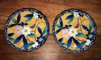 Pair Of Floral Chinese Porcelain Saucers
