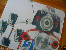 LAMBRETTA - CLASSIC SCOOTER  MOUSE MAT - PERSONALISED IF REQUIRED - IDEAL GIFT