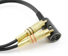 12-inch B&O Din-7 Female to 2-RCA Male Bang & Olufsen Audio Adapter Ship From US
