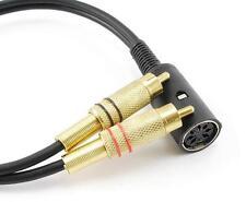 12-inch B&O Din-7 Female to 2-RCA Male Bang & Olufsen Audio Adapter