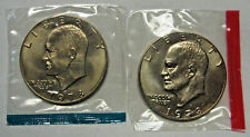 1974-P and D Ike Dollar Choice BU in Mint Celo Wrappers