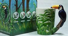 Ceramic Mug TOUCAN Bird in Rain Forest 9319844520058 RAINFTOUM Gift Box