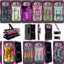 For Samsung Galaxy Note 8 N950 (2017) Pink Case Holster Belt Clip Stand Cover