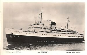 SUPERB SCARCE OLD R/P POSTCARD - S.S. FALAISE - NEWHAVEN to DIEPPE C.1955