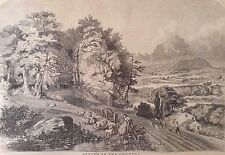 """April 17, 1857 Harper's Weekly Full Page Print """"Spring in the Country"""""""