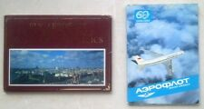 SET 29 POSTCARDS PLANE ADVERTISING AEROFLOT USSR AIRPLANE HELICOPTER AIRPORT AIR
