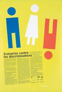 Original Vintage Poster Quarez Against Discrimination French 2007