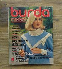 Burda Moden 1977/10 Corselet BH Barbie Weihnachten Puppen 70er J Modezeitschrift