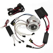 HID Bi-xenon Motorcycle Projector Len Kit H7 H4 H1 White Angel Eye Red Devil Eye