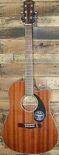 New! Fender CD-60SCE All-Mahogony Acoustic-Electric Dreadnought Cutaway Guitar