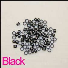 Micro Beads for I Tip Hair Extension 5.0 x 3.8 x 3.0 mm Black