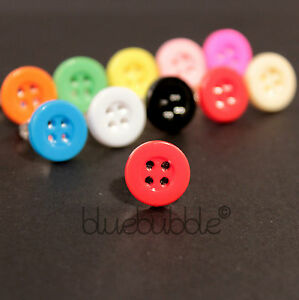 FUNKY BOYS MENS SINGLE STUD 12mm BUTTON EARRING PUNK ROCK EMO INDIE 80s COOL UK