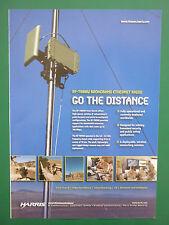6/08 PUB HARRIS MILITARY COMMUNICATION RF-7800W BROADBAND ETHERNET RADIO AD