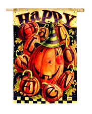 Fall Happy Halloween Witch Pumpkins Mini Garden Flag New