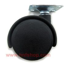 """4 pcs/set 1.5"""" furniture swivel casters/wheel w/1.3x1.3"""" plate chair replacement"""