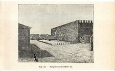 Stampa antica BELGIOIOSO veduta del castello Pavia 1910 Old print