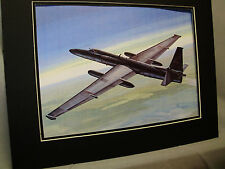 TR 1 Spy Aircraft Lockheed  by Artist Aviation Archives Ebay Largest selection