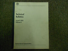 1993 VW Technical Bulletins Service Shop Manual VOLUME II FACTORY OEM BOOK 93