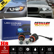 2× H8 LED Angel Eyes 120W Ringe Standlicht Für BMW E60/61/71/70/82 LCI E90/91 X5
