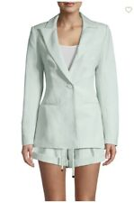 Nwt Significant Other Zahara Linen-Blend Blazer Pistachio Us 2 $259