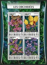 Djibouti 2016 Orchids Sheet Mint Never Hinged