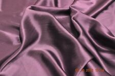 Pure silk crepe back satin, 19 momme, 114 cm, grape, sold by half meter