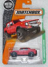 BRAND NEW MATCHBOX LAMBORGHINI LM002 RED LONG CARD 101/125 VERY RARE