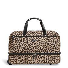 Vera Bradley Lighten Up Wheeled Carry On Luggage - Leopard