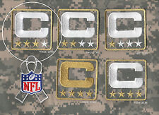 NFL TRIBUTE TO THE MILITARY CAMOUFLAGE CAPTAINS PATCH THREE-STAR 3-STAR C-PATCH