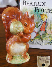 Beatrix Potter  Squirrel Nutkin  BP2 Beswick gold oval Good condition