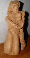 """Sculpture Mother & Daughter 1983 Retro Signed REW 8"""" Priced to Sell $20.00 OFF!!"""