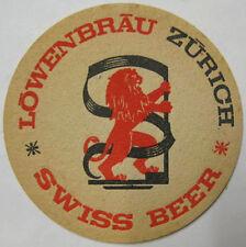 LOWENBRAU ZURICH SWISS BEER COASTER, Mat with LION, SWITZERLAND