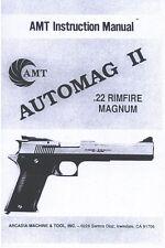AMT AUTOMAG 2 .22 RIMFIRE MAGNUM PISTOL GUN MANUAL