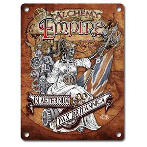 Steampunk Empire, Alchemy, Gothic, Britannica, Small Metal Tin Sign, Picture