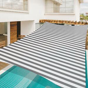Sun Shade Sail 20x16Ft UV Block Rectangle Canopy Outdoor Patio Pool Gray+White