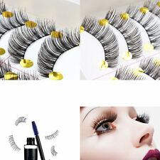 Long 10Pairs Makeup Beauty False Eyelashes Thick Cross Eye Lashes Extension