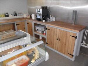 Kitchen / shop / cafe design service for rustic freestanding units.