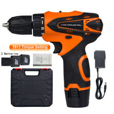 "12V Cordless Drill 3/8""Mini Wireless Power Driver Electric Screwdriver 2 Battery"