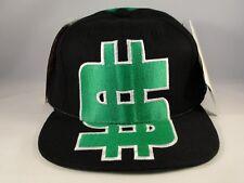 Nuff Money Dollar Sign American Needle Vintage Snapback Cap Hat Black Green
