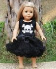 "18"" American Girl Doll Pirate Skull Pettiskirt Halloween Clothes Black Costume"