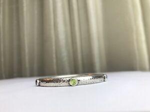 SILPADA Sterling Silver 925 Gemstone Hammered Bangle Bracelet 25.3 Grams