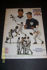1997 NEW YORK Yankees DON MATTINGLY DAY August 31, 1997 Commemorative Program