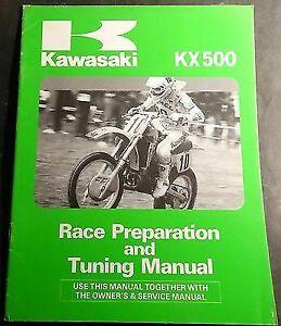 KAWASAKI TUNING, OWNER'S & SERVICE MANUAL KX500C1