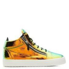 GIUSEPPE ZANOTTI Men's Mid-Top Shimmering Leather Sneakers