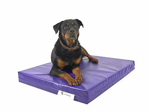 Purple Chew Resistant Dog Bed - Uber Large - Waterproof - Heavy Duty