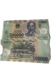 More details for one million vietnamese dong 2 x 500,000 genuine verified notes see pictures.