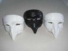 3 MASKEN Schwarz Weiß Venedig Dr. Pest Tod Schnabel Karneval Halloween Feiern