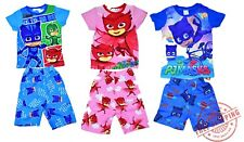 NEW SZ 2-7 KIDS PYJAMAS SUMMER PJ MASKS BOYS GIRLS KIDS CHILDREN PJ PJS TSHIRT